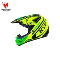 Helm KYT Trail Motocross Cross Over K-Racing Green Fluo Super