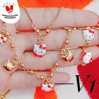 set perhiasan xuping anak lapis emas 18k