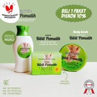 PAKET BIBIT PEMUTIH ( SABUN, LOTION & BODY SCRUB ) BY SYB ORIGINAL