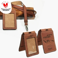 ID CARD HOLDER KULIT SAPI ASLI MODEL LIPAT - COKELAT & TAN CH