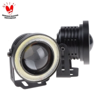 Led Fog Lamp Angel Eyes 76mm - Lampu Foglamp