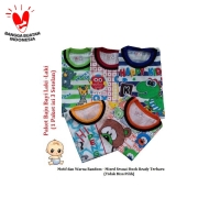 PAKET Setelan Baby Baju Bayi LAKI LAKI 1 Paket Isi 3 Stelan