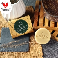 Adara Organic Handmade Pure Matcha REFILL TRAVEL Soap - Unscented