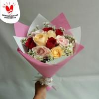 hand bouquet anniversary bunga mawar asli buket bunga bucket