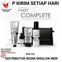 MS GLOW FOR MEN PAKET COMPLETE / KOMPLIT LENGKAP PERAWATAN WAJAH PRIA