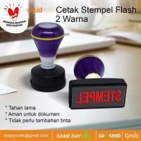 Cetak Stempel Flash| Stample Flash 2 Warna