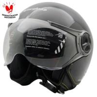 Cargloss YR Ghotic Helm Half Face - Deep Black