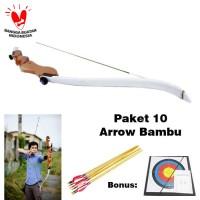 Wooden Recurve Bow Paket Arrow 10 pcs