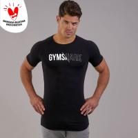 NEW GYMSHARK gym Tee Kaos training running fitnes baju olahraga pria