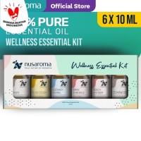 Nusaroma Wellness Kit Essential Oil - Paket isi 6 x 10ML