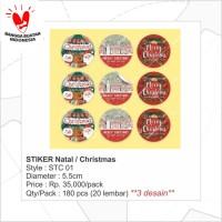 STC01 - Sticker Christmas/Stiker Natal/Souvenir/Hiasan/Kertas tempel