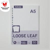 HVS Loose Leaf (PLAIN) Kertas Binder/ Isi Notes - (A5) 50 lbr