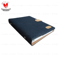 Onix Navy Blue Binder Denim Jeans Kancing Exclusive 20 Ring A5 Campus