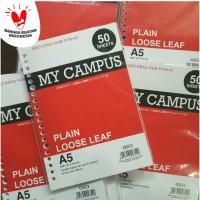 Kiky Loose Leaf A5 50 Lembar MIX WARNA - Kertas Binder 20 Ring Plain
