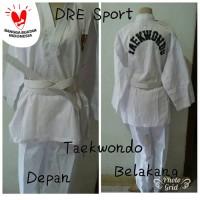 Baju Taekwondo dewasa S,M,L,XL