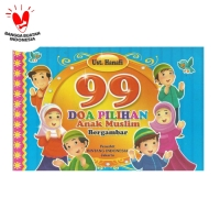 Buku 99 Doa Pilihan Anak Muslim Bergambar Berwarna Murah Meriah