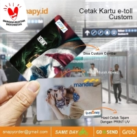 Cetak kartu e-toll | e-money custom