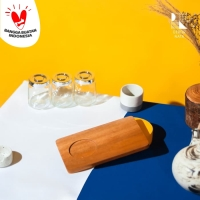 Celine Coffee Tray / Nampan Kopi Kayu