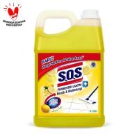 SOS Pembersih Lantai Jerigen Lemon Twist - Kuning [4 Liter]