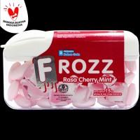 FROZZ Cherry Mint permen bebas gula rendah kalori & dingin menyegarkan