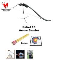 Paket Busur Panah Anak dan Pemula + 10 Anak Panah + Target + Panduan P