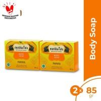 Twinpack Papaya Body Soap 85gr sabun mandi batang aroma buah papaya