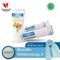 Paket Whiteneng Free Hijab Biru