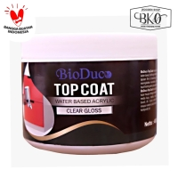 acrylic top Coat gloss biovarnish cup 400gr water based pernis kayu