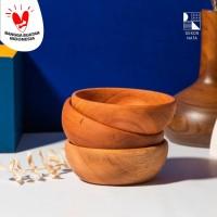 Wooden Side Sauce Bowl / Mangkok Kecil Kayu / Mangkok Saos