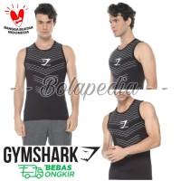 SINGLET SISIK GYMSHARK kaos training gym fitnes pria running olahraga