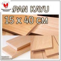 Wooden board 15x40 cm papan kayu talenan bahan craft macrame dekorasi
