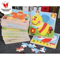 Mainan Edukatif / Puzzle Kayu / Jigsaw Puzzle 16 Pcs Kecil