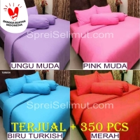 Bed Cover Set Polos Rosewell uk King/Queen [Harga Reseller]