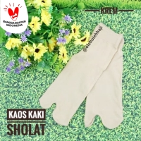 Kaos Kaki Jempol Pendek Polos Krem Bahan Spandex/Perlengkapan Haji
