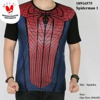 Baju kaos SPIDERMAN 3D kaos superhero distro pria (SPI MERAH KCL)