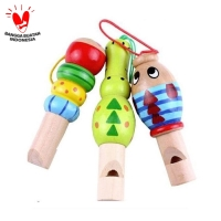Peluit Kayu Lucu - Mainan Musik Peluit Anak