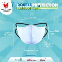 Kintakun Masker Kain Anti Virus DK DOUBLE PROTECTION HEADLOOP MASK - L