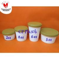 Paper Cup Ice Cream + Tutup Tebal + Sendok Uk 2 oz (isi 50 pcs)
