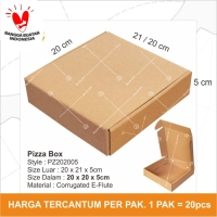 Dus Pizza Box Kotak Packing Karton Corrugated 20 x 20 x 5cm - PZ202005