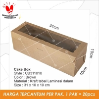 Dus Kue Cake Box Bolu Kotak Packaging Kemasan - CB311010