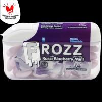 FROZZ Blueberry Mint bebas gula, rendah kalori & dingin menyegarkan