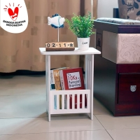 Meja kopi persegi Coffee Table stand corner vintage dekorasi interior