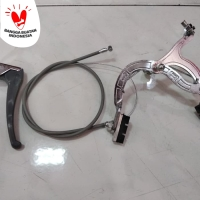 1 set capit rem depan Sepeda , handle + tali komplit set depan