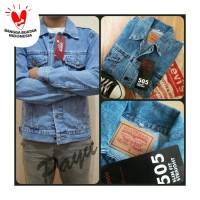 jaket jeans levis biru langit/telur asin/bioblitz murah/harga grosir
