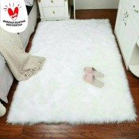 Karpet Bulu Putih Lembut 70x130cm TERMURAH HIGH QUALITY