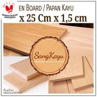 Wooden board 15 x 25 Cm Papan kayu talenan kayu bahan craft dekorasi