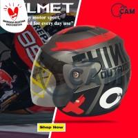 Helm Motor Evolution Lorenzo outride Abu doff SNI Bukan GM