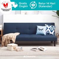 Oda Sofa Bed - Biru Tua (Kain Woven)