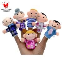 TweedyToys - Boneka Jari Keluarga - 6 Pcs Boneka Jari Keluarga Lucu
