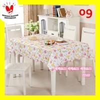 Taplak Meja Makan Anti Air Taplak Meja Plastik Lebih Tebal dan Besar